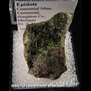 Mineral Specimen: Epidote from Centennial Mine, Centennial, Houghton Co., Michigan