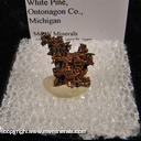 Mineral Specimen: Copper: Cubic Crystals from White Pine Mine, White Pine, Ontonagon County, Michigan