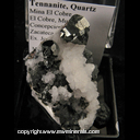 Mineral Specimen: Tennanite, Quartz from Mina El Cobre,El Cobre, Mun de Concepcion del Oro, Zacatecas, Mexico, Ex. Josie Middleton