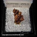 Mineral Specimen: Copper Crystals from Arizona,  Ex. A. Neely, 1960s