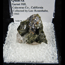Mineral Specimen: Molybdenite, Epidote, Quartz from Garnet Hill, Calaveras Co., California, Collected by Leo Rosenhahn, 1960