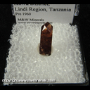 Mineral Specimen: Zircon from Kilwa Kisiwani (UNESCO Site), Kilwa District, Lindi Region, Tanzania, Pre 1960