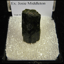 Mineral Specimen: Epidote from Mineral Co., Nevada, Ex. Josie Middleton