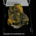 Mineral Specimen: Orpiment from Good Bar Mine, Eureka Co., Nevada, Collected by J. Seibel