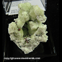 Mineral Specimen: Copper, Prehnite from Phoenix Mine, Keweenaw Co., Michigan