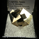 Mineral Specimen: Pyrite from Logrono, Spain, Ex. E. Morales, from Howards Minerals, White Plains show, 1982