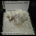 Mineral Specimen: Anglesite from Tsumeb, Namibia, Ex. E. Morales, from Brussels show, 1981