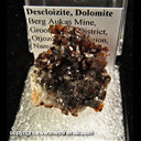 Mineral Specimen: Descloizite, Dolomite from Berg Aukas Mine, Grootfontein District, Otjozondiupa Region, Namibia