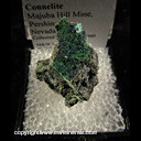 Mineral Specimen: Clinoclase, Connellite from Majuba Hill Mine, Pershing Co., Nevada