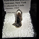 Mineral Specimen: Quartz with Hydrocarbon Phantom from Herkimer, New York, Collected by Linda Hermes, 1969