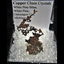 Mineral Specimen: Copper Chain Crystals from White Pine Mine, White Pine, Ontonagon County, Michigan