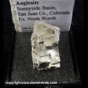 Mineral Specimen: Galena  altering to Anglesite from Sunnyside Basin, San Juan Co., Colorado, Ex. Norm Woods