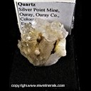 Mineral Specimen: Quartz from Silver Point Mine, Ouray, Ouray Co., Colorado, Ex. Norm Woods