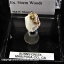 Mineral Specimen: Gold in Quartz from Burns Park, Mariposa Co., California, Ex. Norm Woods
