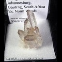 Mineral Specimen: Quartz with Manganese Inclusions from Johannesburg District, Gaunteng, South Africa, Ex. Norm Woods