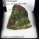 Mineral Specimen: Goethite, Iridescent from Keweenaw Peninsula, Michigan, Ex. Norm Woods