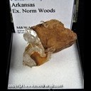 Mineral Specimen: Siderite, Quartz from Pulaski Co., Arkansas, Ex. Norm Woods
