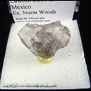 Mineral Specimen: Quartz, Smoky Japan Law Twin from Smokey Bear claims, Lincoln Co., New Mexico, Ex. Norm Woods