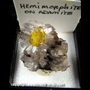 Mineral Specimen: Hemimorphite on Adamite from Mexico, likely Mina Ojuela, Ex. Norm Woods