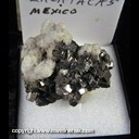 Mineral Specimen: Arsenopyrite, Calcite from Zacatecas, Mexico, Ex. Norm Woods