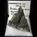 Mineral Specimen: Marcasite, Iridescent on Calcite from Brushy Creek Mine, Greeley, Reynolds Co., Missouri, Ex. Norm Woods