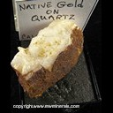 Mineral Specimen: Gold on Quartz from California Ex. Norm Woods