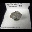 Mineral Specimen: Barite, minor Dolomite from Des Moines River at Farmington, Van Buren Co., Iowa, Ex. Norm Woods