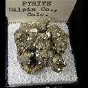 Mineral Specimen: Pyrite from Gilpin Co., Colorado Ex. A. Neely, 1960s