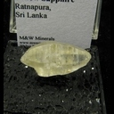 Mineral Specimen: Corundum variety: Yellow Sapphire from Ratnapura District, Sabaragamuwa Province, Sri Lanka