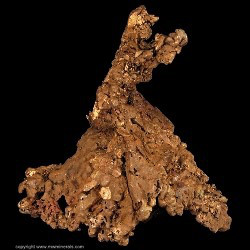 Mineral Specimen: Copper Crystals from Central Mine, Central, Keweenaw County, Michigan, USA
