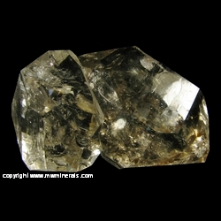 Minerals Specimen: Herkimer Diamonds from Herkimer, New York, USA