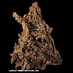 Minerals Specimen: Copper Crystals from Central #2 Mine, Central, Keweenaw County, Michigan, USA