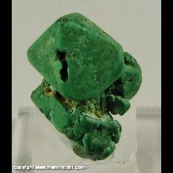 Minerals Specimen: Malachite pseudomorph after Cuprite from Chessy copper mines, Chessy-les-Mines, Le Bois d'Oingt, Rhone, Rhone-Alpes, France