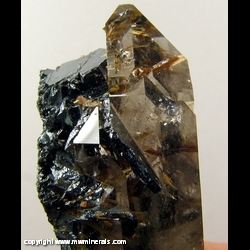 Mineral Specimen: Rutilated Quartz with Hematite from Roca Grande district, Rio do Pires, Bahia, Brazil