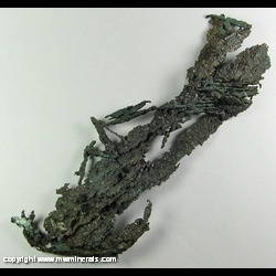 Minerals Specimen: Copper Crystals from White Pine Mine, White Pine, Ontonagon Co., Michigan