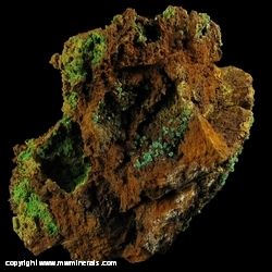 Minerals Specimen: Cuprian Adamite, Conichalcite, Jarosite from Gold Hill Mine, Gold Hill, Deep Creek Mts, Tooele Co., Utah, USA