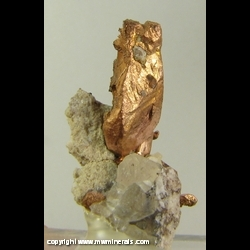 Minerals Specimen: Copper Crystal from Keweenaw Peninsula, Michigan