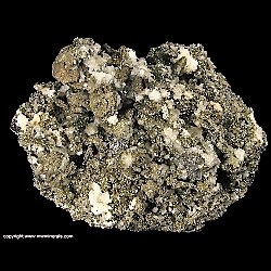Minerals Specimen: Pyrite pseudomorph after Pyrrhotite from Zacatecas, Mexico