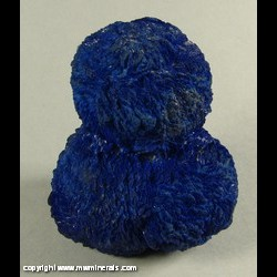 Minerals Specimen: Azurite Variety Chesseylite from Chessy copper mines, Chessy-les-Mines, Le Bois d'Oingt, Rhone, Rhone-Alpes, France