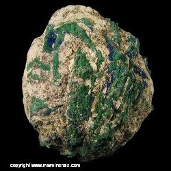 Minerals Specimen: Malachite Partial Pseudomorph after Azurite from Chihuahua, Mexico