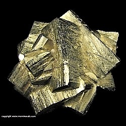 Mineral Specimen: Pyrite Penetration Twins from Ambasaguas (Ambas Aguas; Ambas-Aguas), Muro de Aguas, La Rioja, Spain