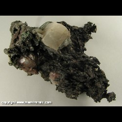 Mineral Specimen: Copper, Calcite with Included Copper from Quincy Mine, Houghton Co., Michigan
