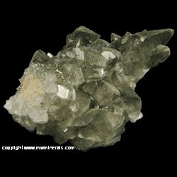 Minerals Specimen: Calcite, Included Marcasite, Pyrite from Conco Mine, North Aurora, Kane Co., Illinois