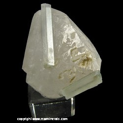 Mineral Specimen: Double Terminated Aquamarine on Quartz Floater from Shigar Valley, Skardu District, Baltistan, Gilgit-Baltistan (Northern Areas), Pakistan