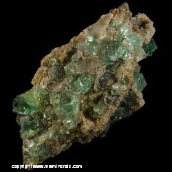 Mineral Specimen: Fluorite, Galena from Heights Mine, Westgate, Weardale, North Pennines, Co. Durham, England
