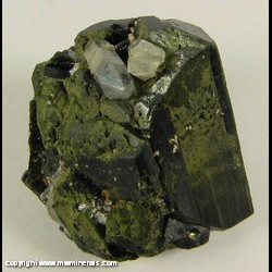 Minerals Specimen: Epidote, Quartz from Prince of Wales Island, Ketchikan Dist., Prince of Wales-Outer Ketchikan Borough, Alaska