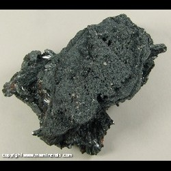 Minerals Specimen: Pyrolusite from Hotazel, Kalahari manganese fields, Northern Cape Province, South Africa