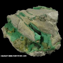 Minerals Specimen: Variscite, Wavellite from Dug Hill, Avant, Garland Co., Arkansas