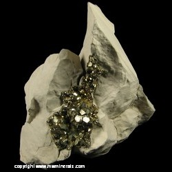 Minerals Specimen: Diploid Pyrite Crystals from Duff Quarry, Huntsville, Logan Co., Ohio