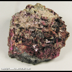 Minerals Specimen: Erythrite, Unidentified Silver Halide from Bou Azer District, Tazenakht, Ouarzazate Prov., Morocco